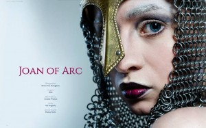 Joan of Arc series as published in Dark Beauty Magazine, issue 34